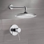 Shower Faucet, Remer SS1008, Chrome Shower Faucet Set with 9