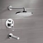 Tub and Shower Faucet, Remer TSF2003, Chrome Tub and Shower Faucet Sets with 8