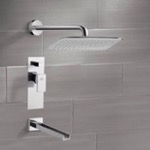Tub and Shower Faucet, Remer TSF2011, Chrome Tub and Shower Faucet Sets with 14