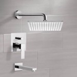 Tub and Shower Faucet, Remer TSF2121, Tub and Shower Faucet Sets with 12