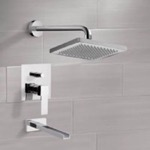 Tub and Shower Faucet, Remer TSF2125, Tub and Shower Faucet Sets with 8