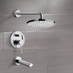 Tub and Shower Faucet, Remer TSF2197, Chrome Tub and Shower Faucet Sets with 8