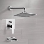 Tub and Shower Faucet, Remer TSF2301, Chrome Tub and Shower Faucet Sets with 8