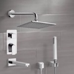 Tub and Shower Faucet, Remer TSH01, Chrome Tub and Shower System with 8