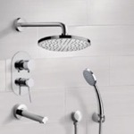 Tub and Shower Faucet, Remer TSH02, Chrome Tub and Shower System with 8