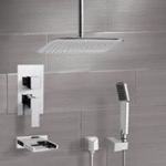Tub and Shower Faucet, Remer TSH4019, Chrome Tub and Shower System with Ceiling 14