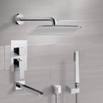 Tub and Shower Faucet, Remer TSH4055, Chrome Tub and Shower System with 14