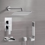 Tub and Shower Faucet, Remer TSH4057, Chrome Tub and Shower System with 14
