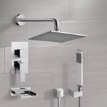 Tub and Shower Faucet, Remer TSH4112, Chrome Tub and Shower System with 8