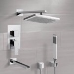 Tub and Shower Faucet, Remer TSH4543, Tub and Shower System with 9.5