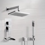 Tub and Shower Faucet, Remer TSH4545, Tub and Shower System with 9.5
