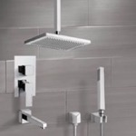 Tub and Shower Faucet, Remer TSH4546, Tub and Shower System with Ceiling 9.5
