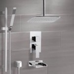 Tub and Shower Faucet, Remer TSR9018, Chrome Tub and Shower System with Ceiling 14