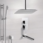 Tub and Shower Faucet, Remer TSR9020, Chrome Tub and Shower System with Ceiling 14