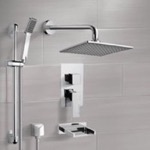 Tub and Shower Faucet, Remer TSR9111, Chrome Tub and Shower System with 8