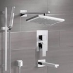 Tub and Shower Faucet, Remer TSR9544, Tub and Shower System with 9.5