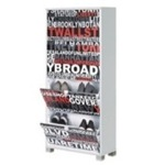 Stylish Shoe Rack with 4 Folding Doors