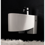 Round White Ceramic Wall Hung Bidet