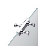 Robe Hook, StilHaus 985-08, Over the Shower Door Double Robe Hook