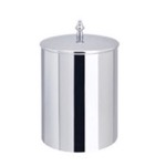 Chrome Waste Bin with Cover