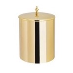 Gold Waste Basket with Cover
