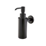 Soap Dispenser, StilHaus ME30-23, Wall Mounted Round Black Soap Dispenser