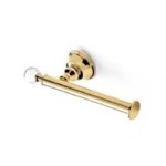 Gold Brass Toilet Roll Holder with Crystal