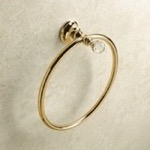Gold Towel Ring with Crystal