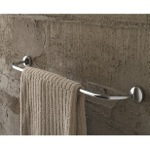 24 Inch Polished Chrome Curved Towel Bar
