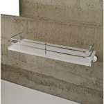 Plexiglass 13 Inch Bath Bathroom Shelf With Railing