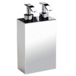 Soap Dispenser, Windisch 90124, Square Wall Mounted Brass Soap Dispenser with Two Pump(s)