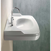 Bathroom Sink Classic-style Curved White Ceramic Wall Mounted Bathroom Sink 564411 GSI 564411