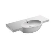 Bathroom Sink Curved White Ceramic Wall Mounted Bathroom Sink GSI 665111
