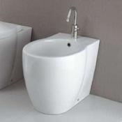 Bidet Round White Ceramic Floor Bidet GSI 666011