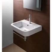 Bathroom Sink Curved Rectangular White Ceramic Wall Mounted Bathroom Sink GSI 693911