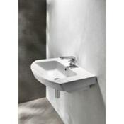Bathroom Sink Curved White Ceramic Wall Mounted Bathroom Sink GSI 773211