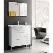 Bathroom Vanity 32 Inch Glossy White Bathroom Vanity Set LON01 ACF LON01