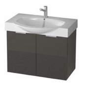 Bathroom Vanity 28 Inch Wall Mount Glossy Anthracite Vanity Cabinet With Fitted Curved Sink KAL02 ARCOM KAL02