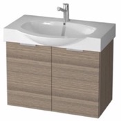 Bathroom Vanity 28 Inch Wall Mount Larch Canapa Vanity Set, Curved Sink KAL03 ARCOM KAL03