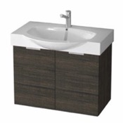 Bathroom Vanity 28 Inch Wall Mount Sherwood Burn Vanity Cabinet With Fitted Curved Sink KAL07 ARCOM KAL07