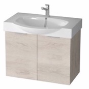 Bathroom Vanity 28 Inch Wall Mount Natural Vanity Cabinet With Fitted Curved Sink KAL08 ARCOM KAL08