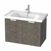 Bathroom Vanity 31 Inch Wall Mount Grey Oak Vanity Cabinet With Fitted Sink LAM06 ARCOM LAM06