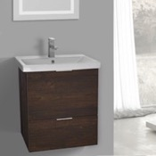 Bathroom Vanity 24 Inch Wall Mount Sherwood Burn Vanity Cabinet With Fitted Sink ARCOM ME01