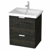 Bathroom Vanity 24 Inch Wall Mount Sherwood Burn Vanity Cabinet With Fitted Sink ME01 ARCOM ME01