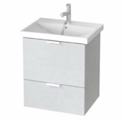 Bathroom Vanity 24 Inch Wall Mount Sherwood White Vanity Cabinet With Fitted Sink ME02 ARCOM ME02