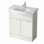 Bathroom Vanity 32 Inch Floor Standing Larch White Vanity Cabinet With Fitted Sink NC02 ARCOM NC02