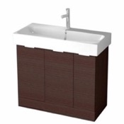 Bathroom Vanity 40 Inch Floor Standing Larch Brown Vanity Cabinet With Fitted Sink O4O01 ARCOM O4O01