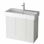 Bathroom Vanity 40 Inch Floor Standing Larch White Vanity Cabinet With Fitted Sink O4O02 ARCOM O4O02