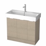 Bathroom Vanity 40 Inch Floor Standing Larch Canapa Vanity Cabinet With Fitted Sink O4O03 ARCOM O4O03
