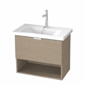 Bathroom Vanity 32 Inch Wall Mount Canapa Tranche Oak Vanity Set, 1 Drawer and Open Space OP01 ARCOM OP01